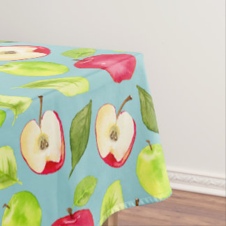 Watercolor Apples Pattern Tablecloth