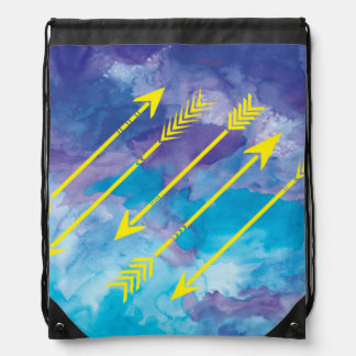 Watercolor Arrows Drawstring Backpack