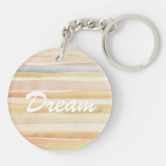 Watercolor art background, texture Double-Sided round acrylic key ring