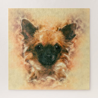 Watercolor art Chihuahua Painting Jigsaw Puzzle