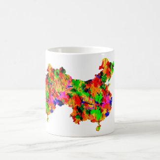 Watercolor art Map of China Mug