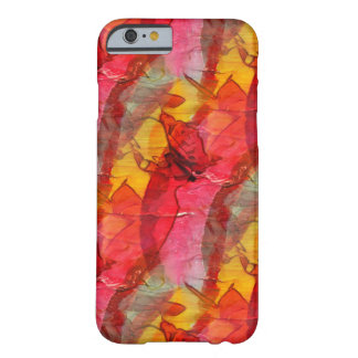 Watercolor art red yellow barely there iPhone 6 case