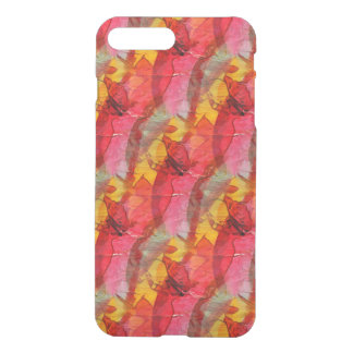 Watercolor art red yellow iPhone 7 plus case