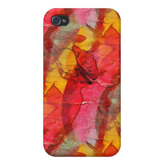 Watercolor art red yellow iPhone 4/4S covers