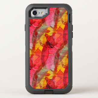 Watercolor art red yellow OtterBox defender iPhone 7 case