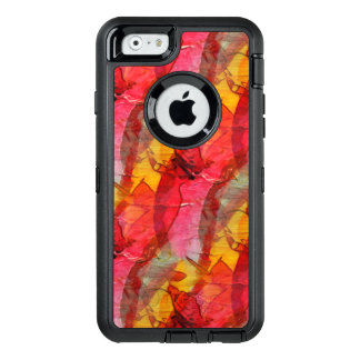 Watercolor art red yellow OtterBox iPhone 6/6s case