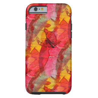 Watercolor art red yellow tough iPhone 6 case