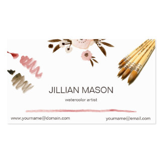 Watercolor Artist Business Card Design