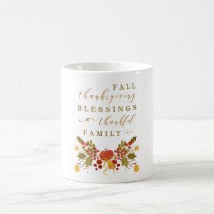 Watercolor Autumn Thanksgiving Quote Mug