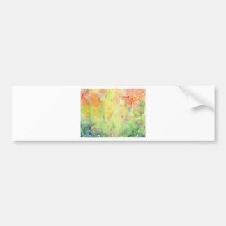 Watercolor autumn Woodland Bumper Sticker