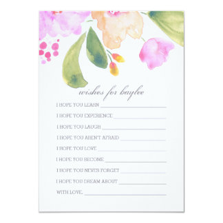 Watercolor Baby Shower Advice For Parents Card 11 Cm X 16 Cm Invitation Card