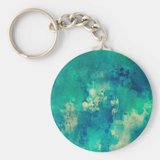 Watercolor backdrop artistic design basic round button key ring