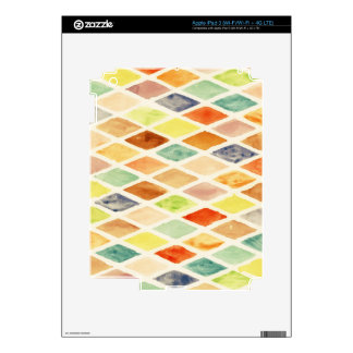 Watercolor background skins for iPad 3