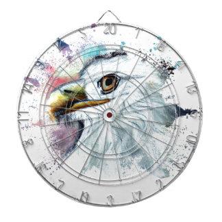 Watercolor Bald Eagle Dartboard