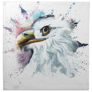 Watercolor Bald Eagle Napkin