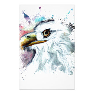Watercolor Bald Eagle Stationery