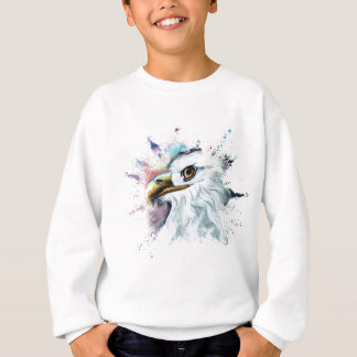 Watercolor Bald Eagle Sweatshirt