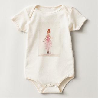 Watercolor Ballerina Baby Bodysuit