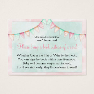 Watercolor Banners Flags Baby Shower Book Request