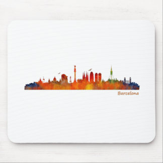 Watercolor Barcelona skyline v01 Mouse Pad