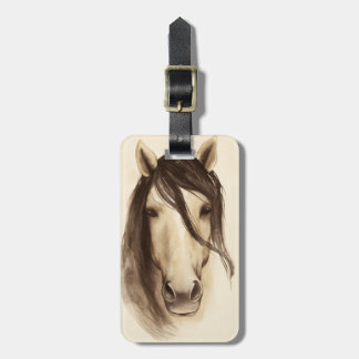 Watercolor Barn Animals | Horse Luggage Tag