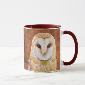 Watercolor Barn Owl Bird Animal Nature art Mug