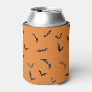 Watercolor Bats Halloween Can Cooler