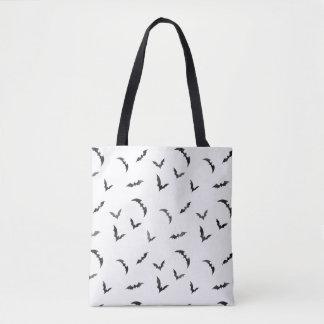 Watercolor Bats Halloween Tote Bag