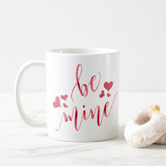 Watercolor Be Mine Valentine's Day Mug