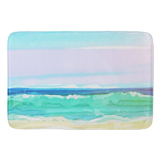 Watercolor Beach Scene 1 Bath Mat