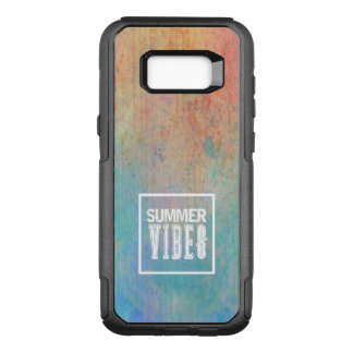 Watercolor beach trendy typography summer vibes OtterBox commuter samsung galaxy s8+ case