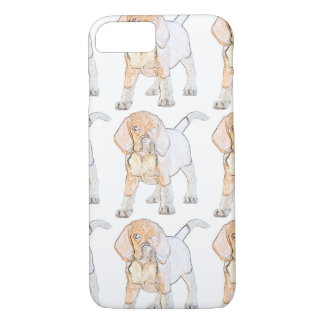 Watercolor Beagle Puppy Dog iPhone 7 Case