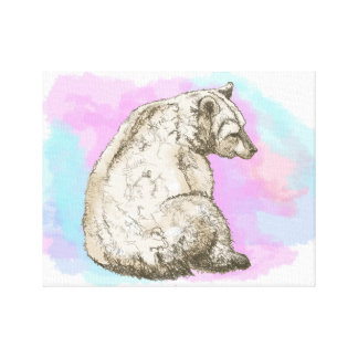 Watercolor Bear Canvas Prints