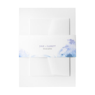 Watercolor Belly Bands Wedding Invitations Invitation Belly Band