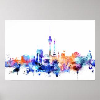 Watercolor Berlin Skyline Print
