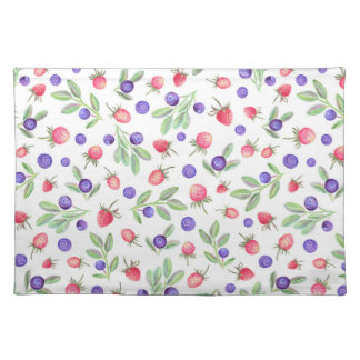 Watercolor berries placemat