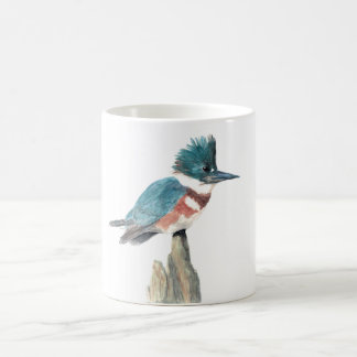 Watercolor bird mug: Belted Kingfisher Coffee Mug