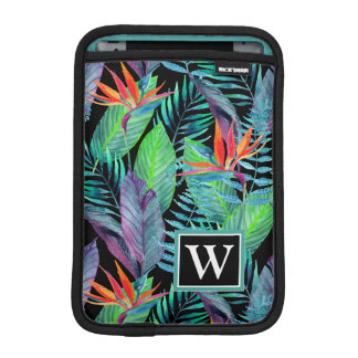 Watercolor Bird Of Paradise | Add Your Initial iPad Mini Sleeves