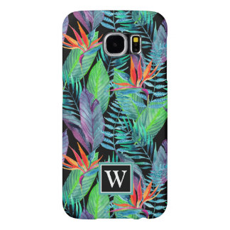 Watercolor Bird Of Paradise | Add Your Initial Samsung Galaxy S6 Cases