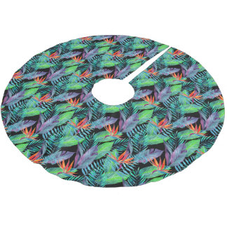 Watercolor Bird Of Paradise Brushed Polyester Tree Skirt