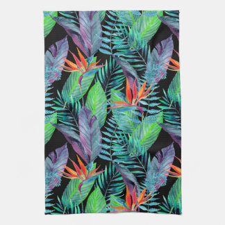 Watercolor Bird Of Paradise Tea Towels