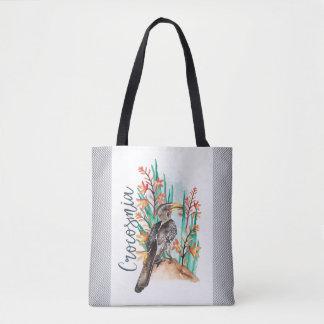 Watercolor Bird painting Tote Bag
