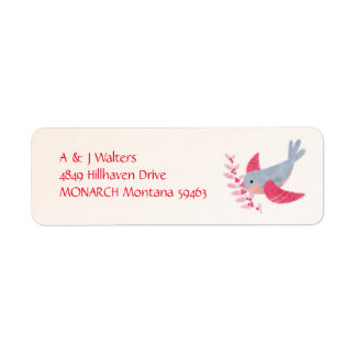 Watercolor Bird Peace Christmas Address Labels