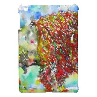 watercolor BISON .1 iPad Mini Cover