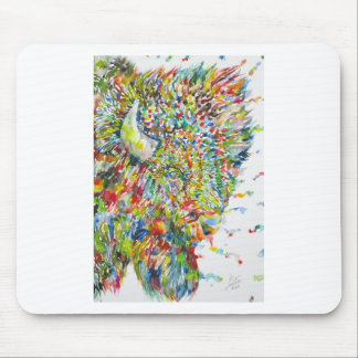 watercolor BISON .2 Mouse Pad