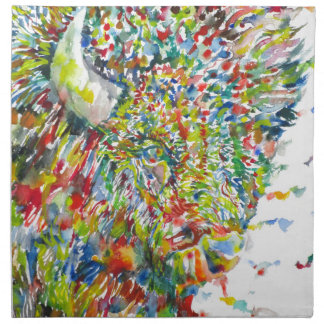 watercolor BISON .2 Napkin