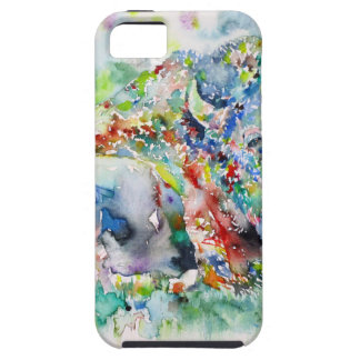 watercolor BISON .3 iPhone 5 Cases