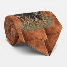 Watercolor Bison Buffalo Animal Nature Tie
