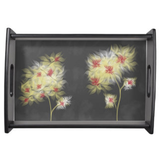 Watercolor Blooms serving tray
