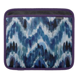 Watercolor Blue Chevron Ikat iPad Sleeve